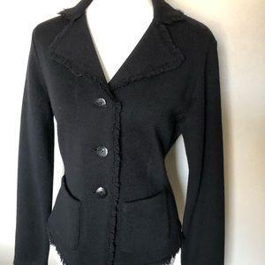 Talbots Black Blazer Sweater, Size S.